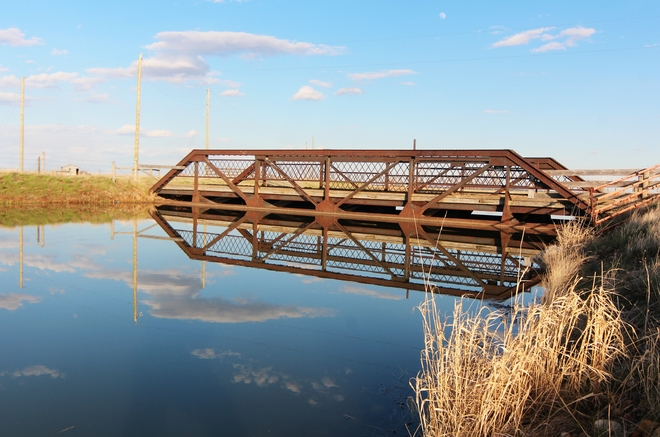 old metal bridge Brooks, Alberta Canada