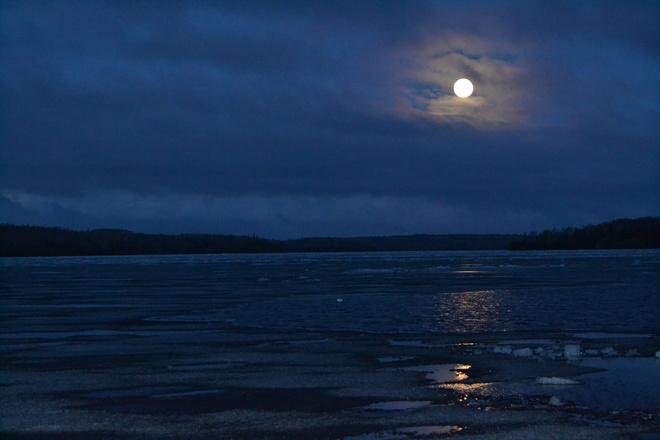 Moon Reflection Sioux Lookout, Ontario Canada