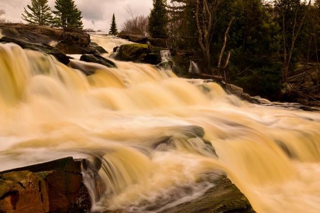 Lower Rosseau Falls Huntsville, Ontario Canada