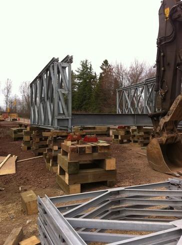 bridge going up Coverdale, New Brunswick Canada