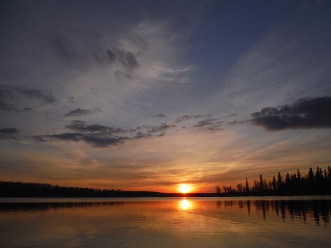 Sunset on Islet Lake, close to Tofield, Alberta Islet Lake, Beaver County, AB