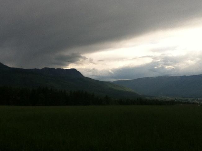 Mt. Ida at Sunset Salmon Arm, British Columbia Canada