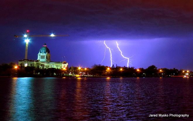 Lightning Over The Lake Regina, SK