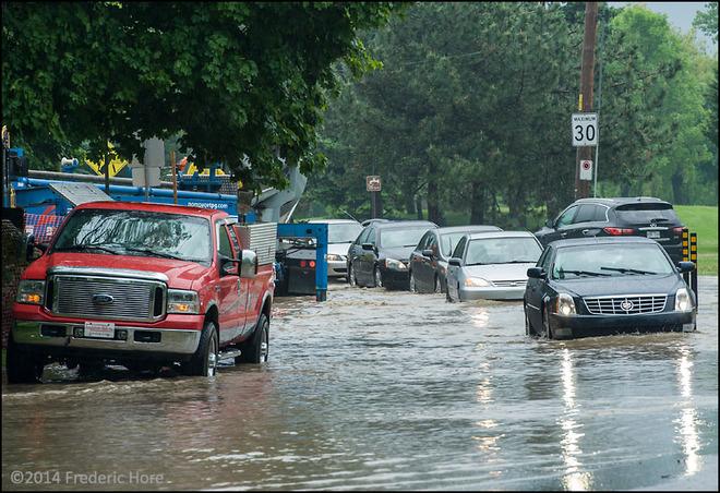 Severe storm creates flash flooding in Dorval, Quebec 5610-5640 Lakeshore Drive, Lachine, QC H8T, Canada