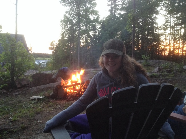 sunset campfire Callander, Ontario Canada