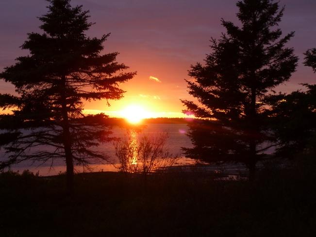 Sunset over Malpeque Bay Malpeque, Prince Edward Island Canada