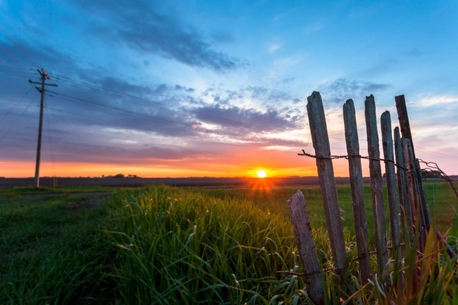 sunset Altona, Manitoba Canada