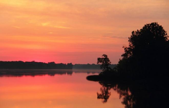 Red Sky Morning Woodstock, Ontario Canada