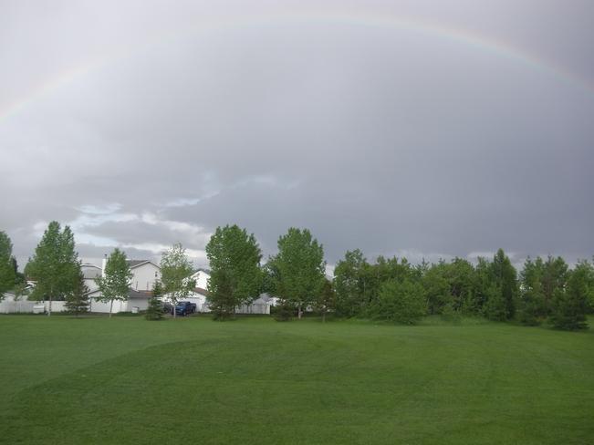 A Lovely Spectacular Full Rainbow in edmonton June 10th 2014 Edmonton, AB