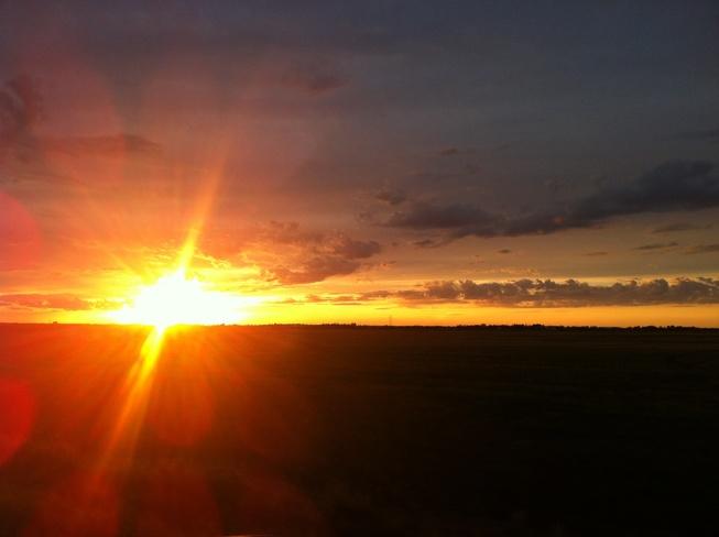 sensational sunset Inland, Alberta Canada