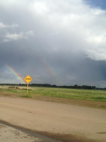 double rainbow Brooks, Alberta Canada