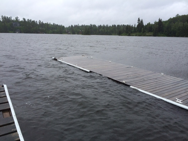 High Water on Lake of the Woods Kenora, Ontario Canada