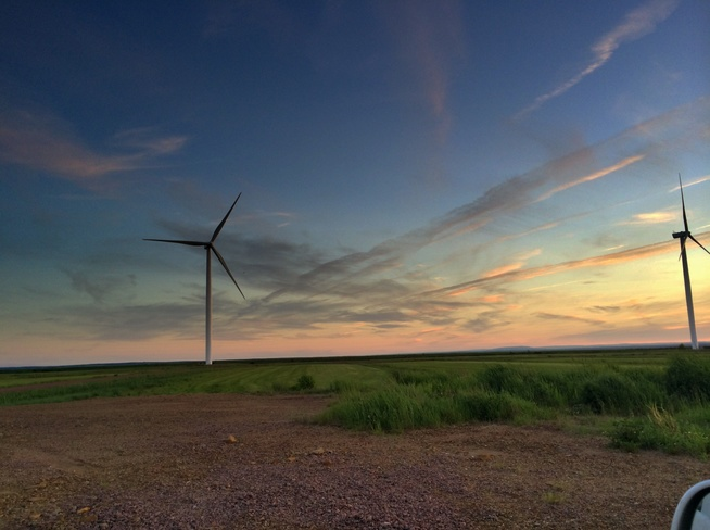 sunset Amherst, Nova Scotia Canada