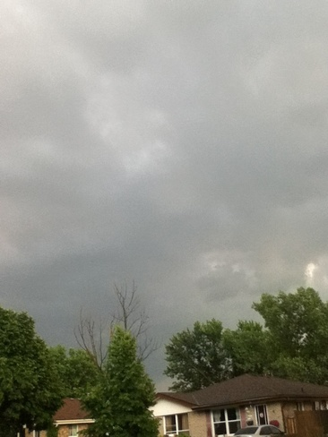 really dark clouds Niagara Falls, Ontario Canada