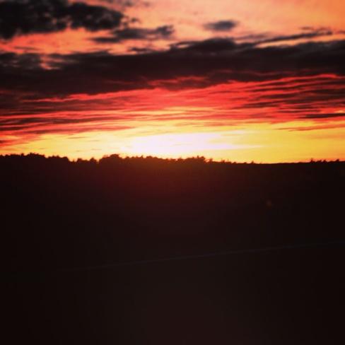 Beautiful sunset Thunder Bay, Ontario Canada