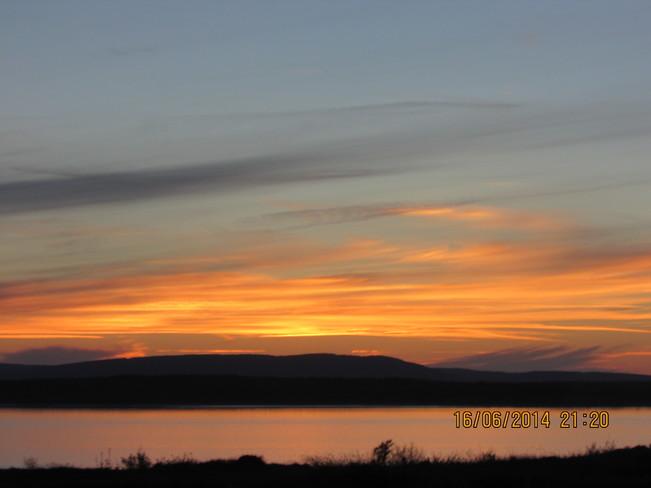 sun down.. Joggins, NS