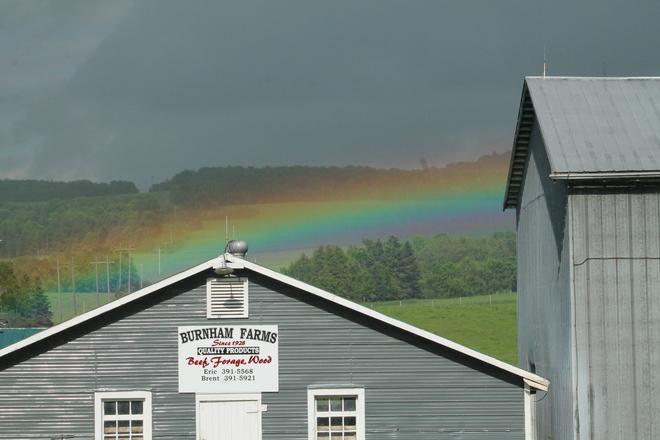 Ground level rainbow Florenceville-Bristol, NB