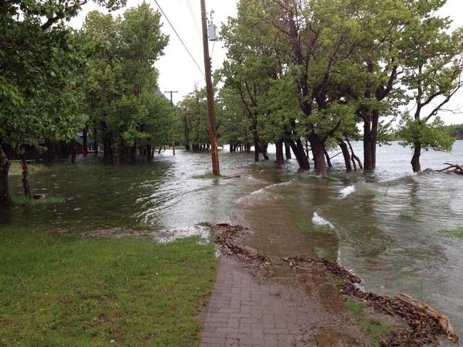 flood 2014 Waterton Park, Alberta Canada