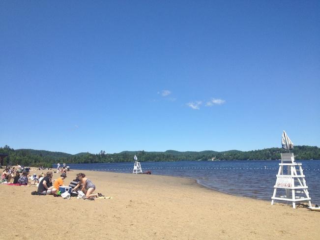 Beautiful Sandy Beach Sainte-Agathe-des-Monts, Quebec Canada