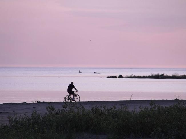 Solitary Ride Sauble Beach North, Ontario Canada