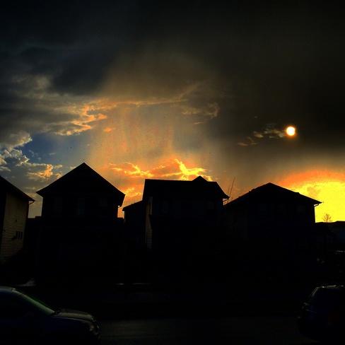 thunderstorm skies Calgary, Alberta Canada