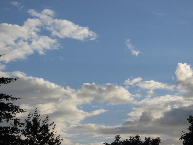 cloud formations Surrey, BC