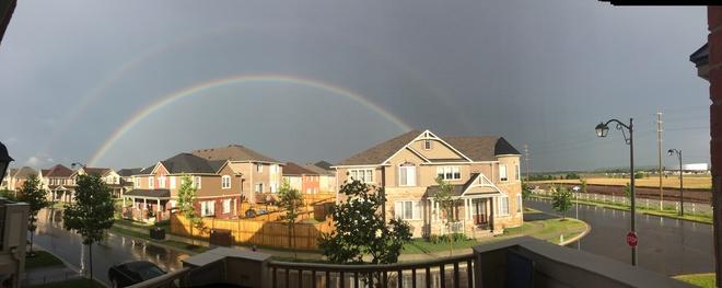 double rainbow Milton, Ontario Canada
