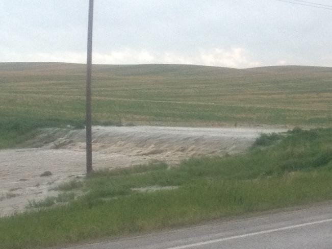flood Biggar, Saskatchewan Canada