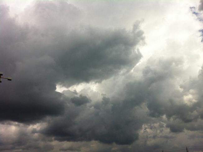 Dark cloudy thunder Brantford, Ontario Canada