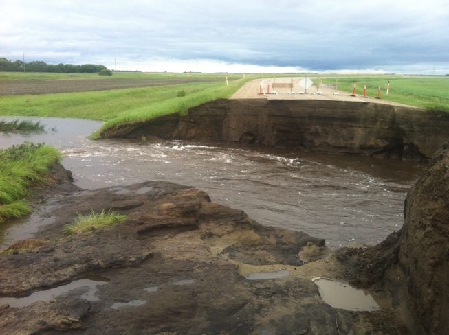 flood 2014 Hartney, Manitoba Canada