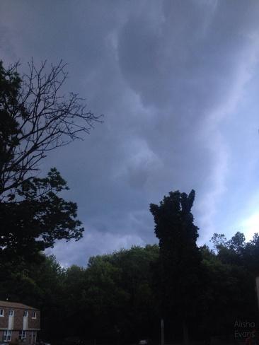 Dark Clouds Prescott, Ontario Canada