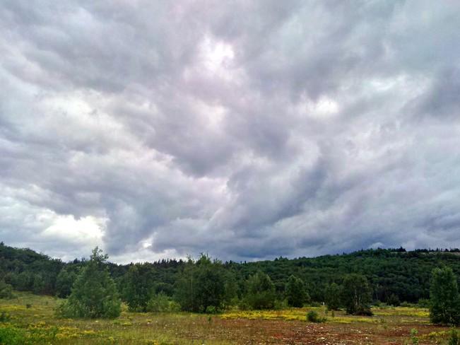 Clouds over Panel Mine Peninsula Elliot Lake, ON