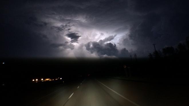 cloud lightning Fort McMurray, Alberta Canada