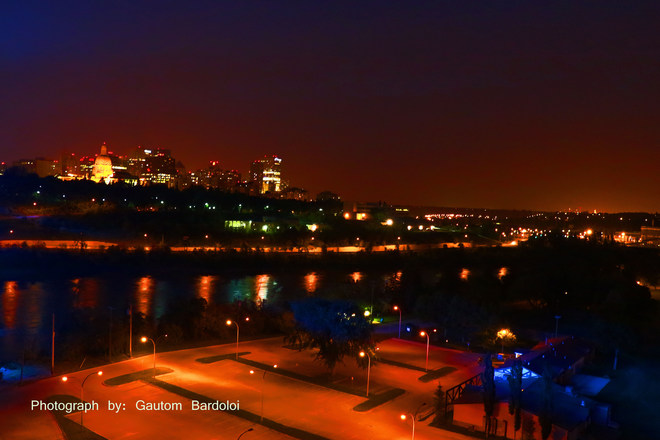 North Saskatchewan river and City of Edmonton! Edmonton, AB, Canada