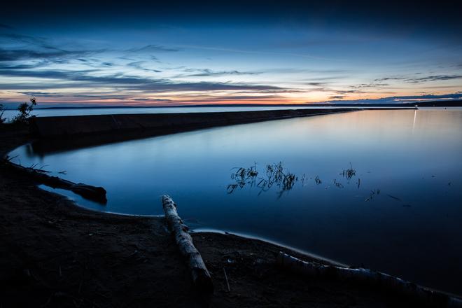 Dusk over Waskesiu Lake Waskesiu Lake, Prince Albert National Park, SK