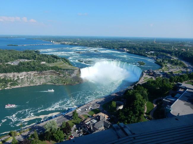 Niagara Falls, Ontario From Above Niagara Falls, ON