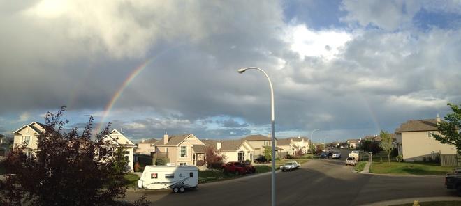 full rainbow Grande Prairie, Alberta Canada