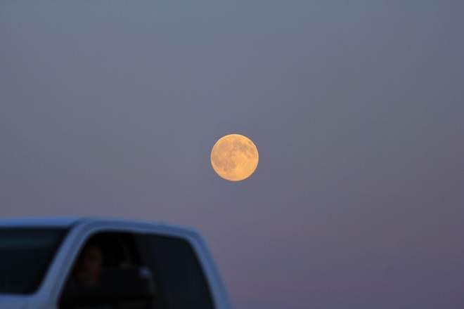 the full moon Saskatoon, Saskatchewan Canada