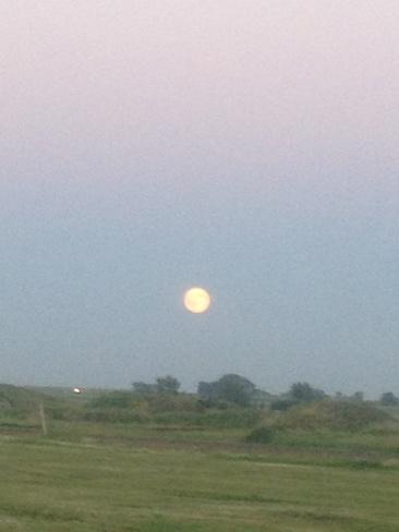 super moon Brooks, Alberta Canada