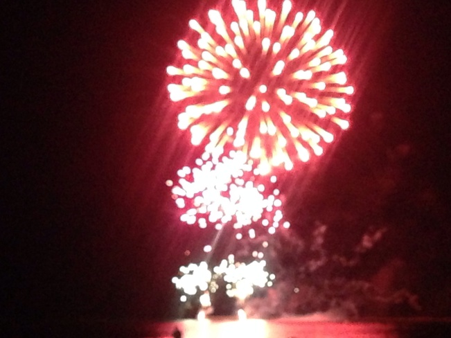 Fireworks over Port Elgin Port Elgin, Ontario Canada