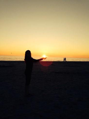 Sunset on Lake Huron Sauble Beach, Ontario Canada