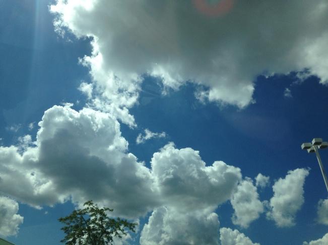 mix clouds Windsor, Ontario Canada