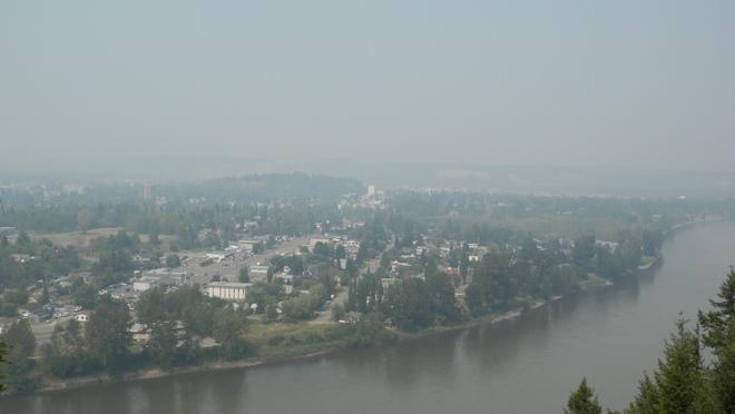 Smoke over Prince George L.C. Gunn Trail, Prince George, BC