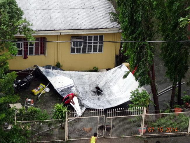 A Glimpse of Typhoon Glenda's Wrath in the Philippines(Intl. name Rammasun) Las Pinas, Metro Manila, Philippines