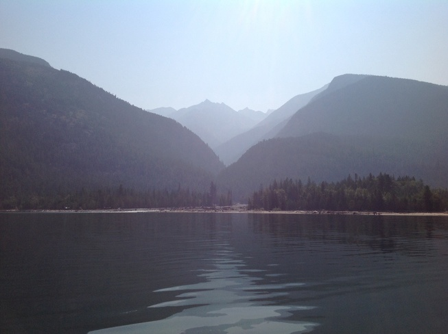 The valley through the smoke Kaslo BC