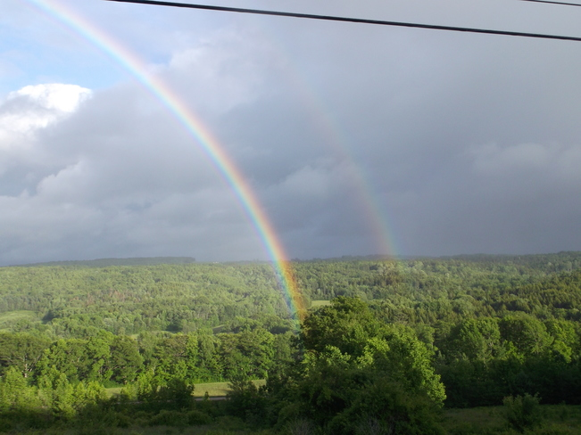 Double Rainbow in the Gaspereau Valley , Nova Scotia White Rock Road , Gaspereau Valley , Kings County , Nova Scotia