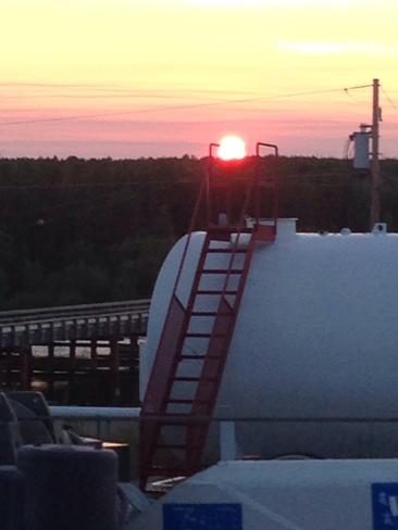 sunset at geikie river La Ronge, Saskatchewan Canada