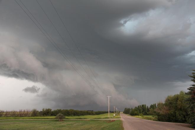 Tornado watch, Linden Alberta July 19 Linden, Alberta