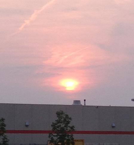 Sunset Setting In Brandon, Manitoba Canada