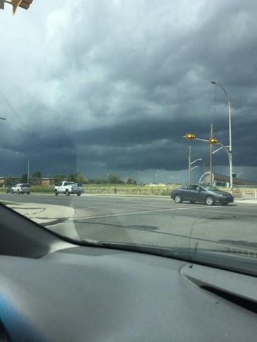 Storm near Westbtook Mall Calgary, Alberta Canada
